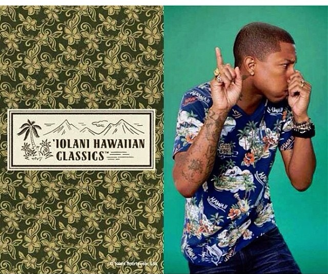 Pharrell in an Iolani Ad for UNIQLO